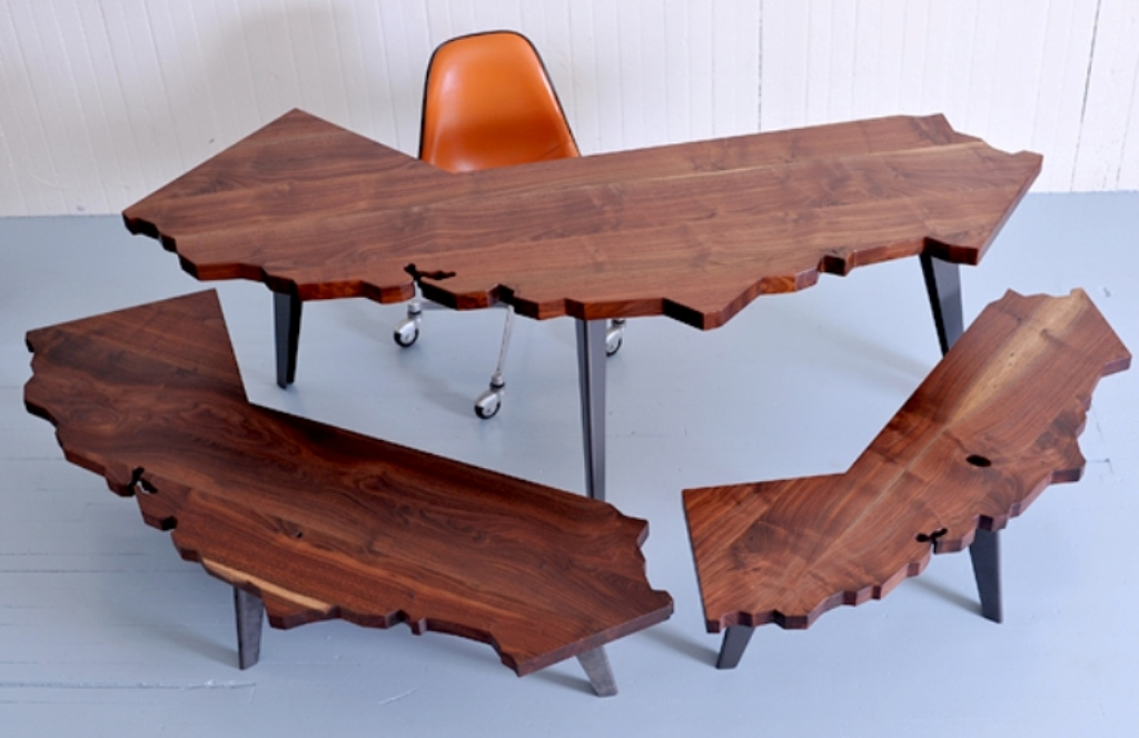 Unusual Workplace Shape coffee Tables J Rusten