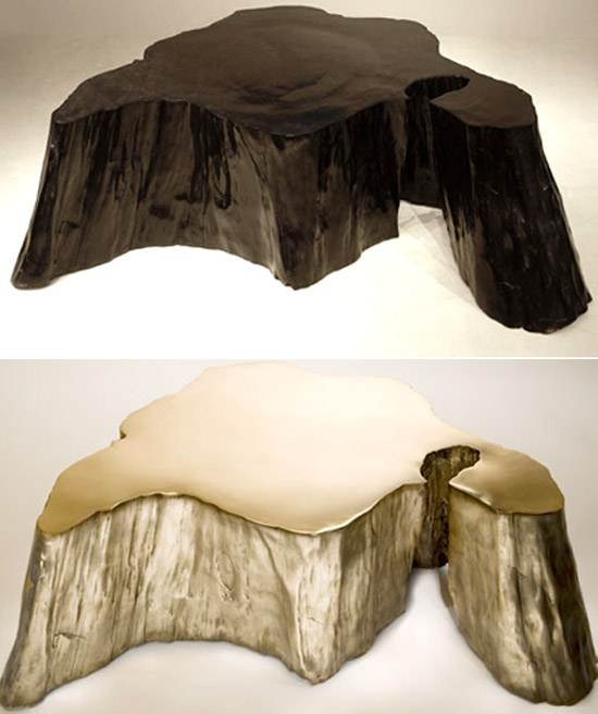 Volcano coffee table wooden