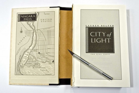 diy reading light of a hardcover book by Grathio Labs
