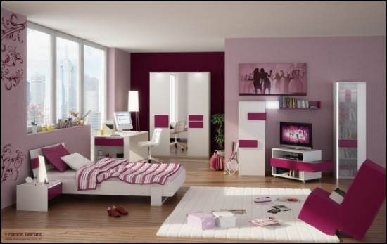 3D Teen Room Render