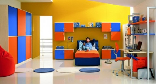 Colorful Bedroom Interior Designs Idea by ZG Group