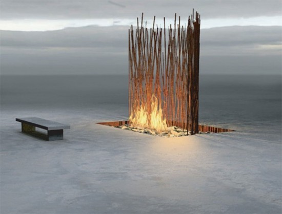 Meditation Fireplace Space Design by Fire Features