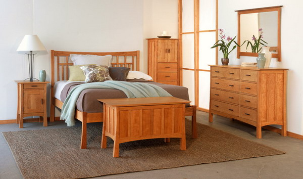 Natural Wooden Headboards bedroom