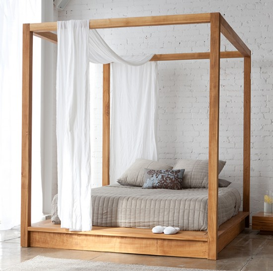 Simply modern canopy bed by Mashstudio