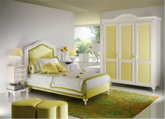 Soft Heart Theme Yellow Kids Bedroom by Halley