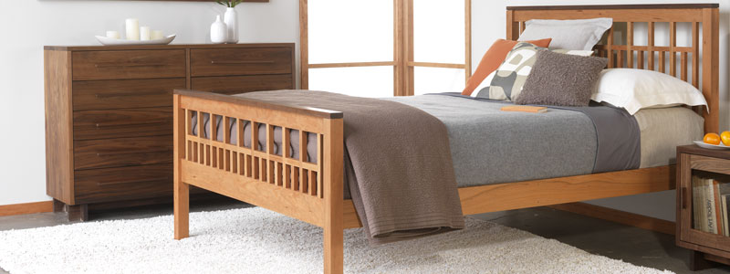 Solid Bed With Natural Handmade