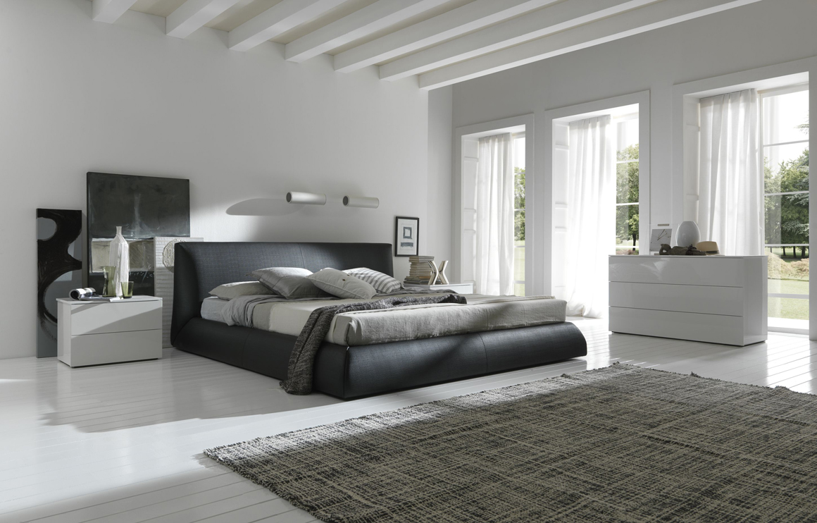 modern minimalist bed with stylish wooden finish