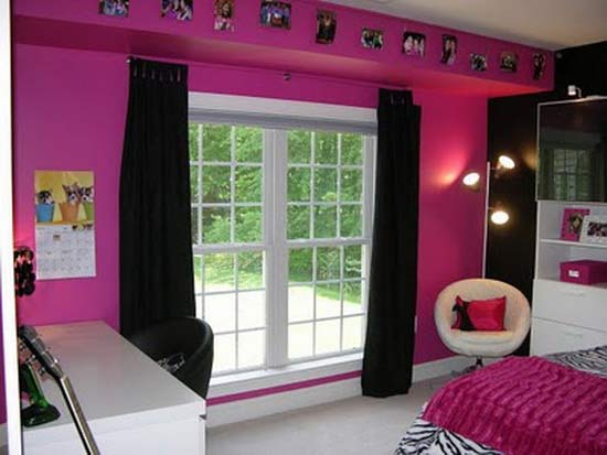 pink rock bedroom ideas