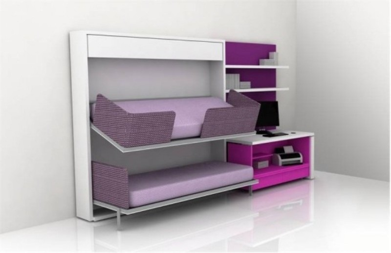 purple grey white minimalist furniture