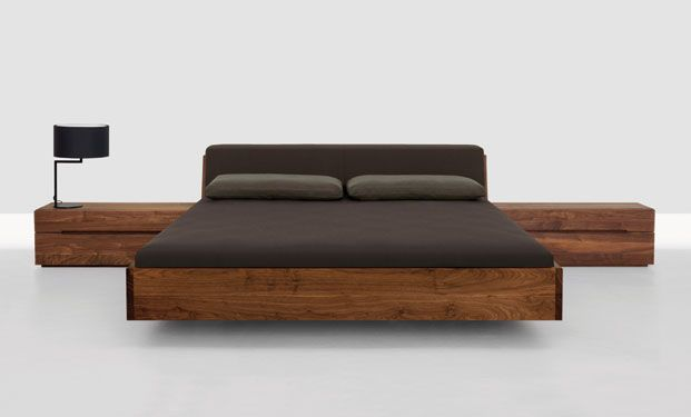 solid wood bed by Zeitraum