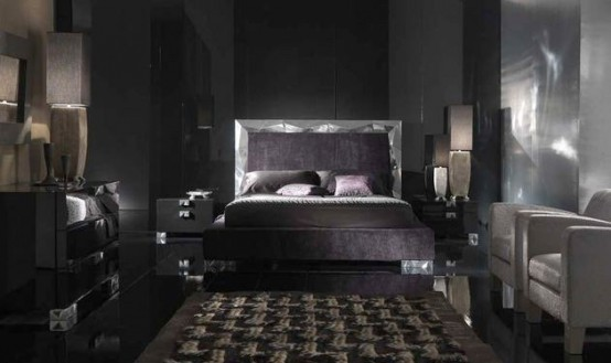Ideal Alux Black Bedroom Furniture from Elite