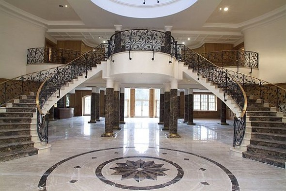 Architecture Most Expensive Estate England double stairs