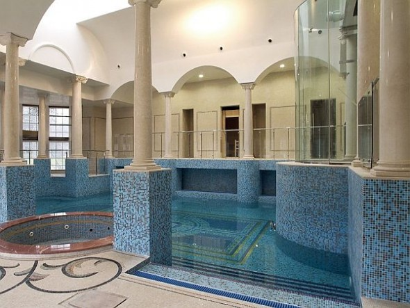 Architecture Most Expensive Estate England inside pool