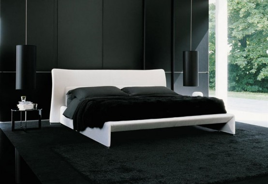 Black and White decorating Bedroom