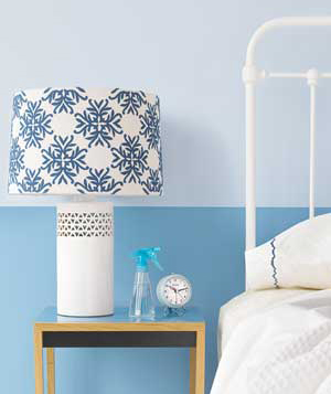 Incorporate Prints on Accent Pieces-lampshade caught