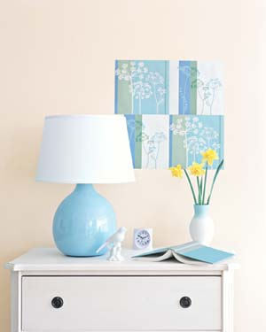 Introduce Pops of Color blue bed lamp