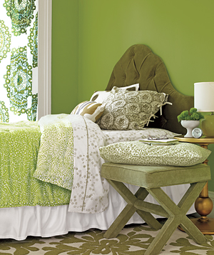 Layer With Color green bedroom