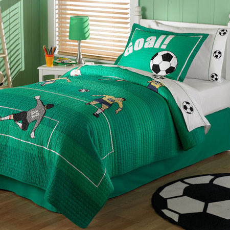 Cute Soccer Quilt Bedding