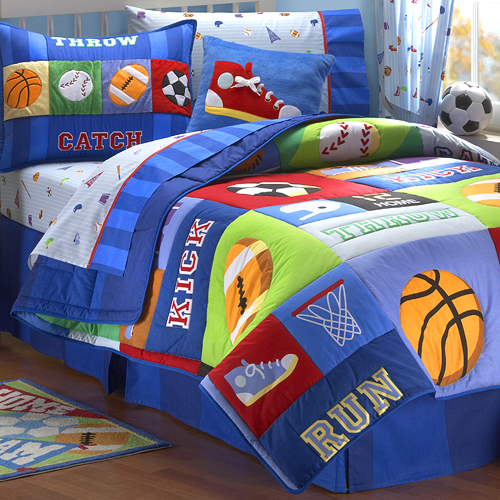 Vintage Sports Kids Bedding