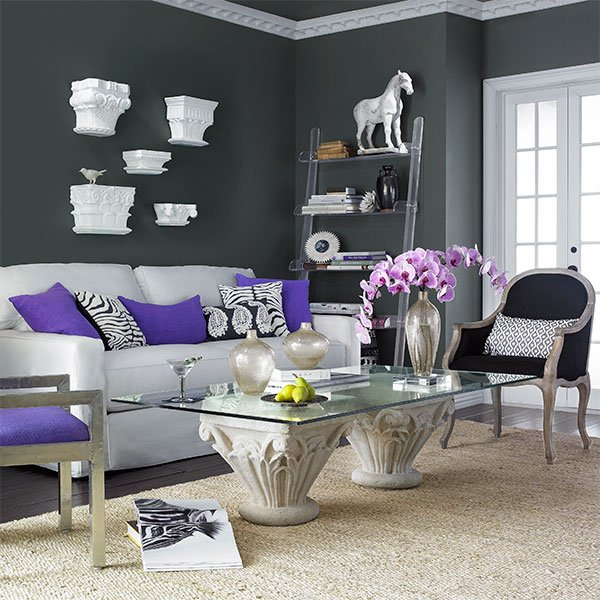 Stylish Gray Room Interior ideas51