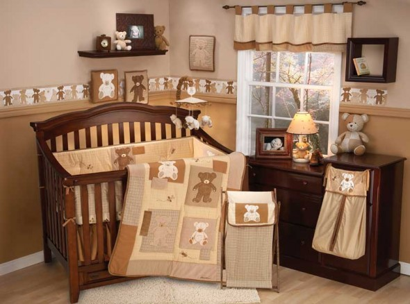 Teddy Bear Baby Crib Bedding