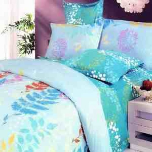 New Turquoise Spring Duvet Bedding Set