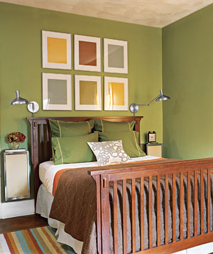 Work the Walls green bedroom