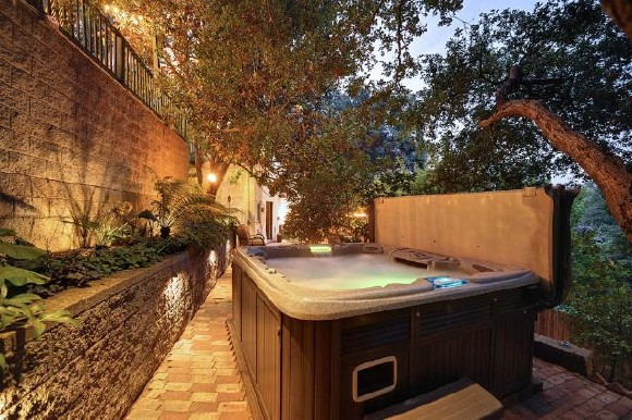 bath tube Vintage English country estate in the Hollywood Hills