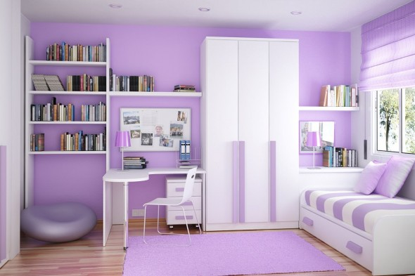 color coordinated compact Study Rooms Saving Ideas for Small Kids Rooms