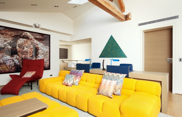 colorful living room furniture in interior design Image : Pictures ...