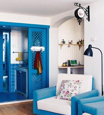 Gallery Of White Blue Fusion For Classic Small Home Decorating