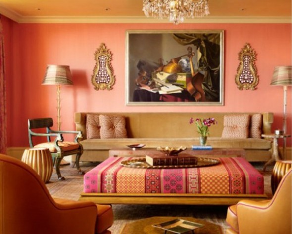 living orange interior design ideas