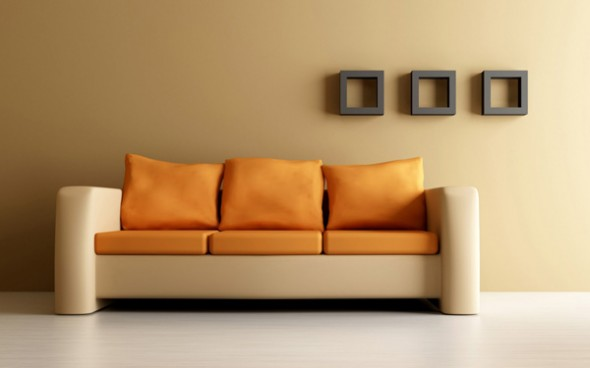 orange sofa interior design ideas