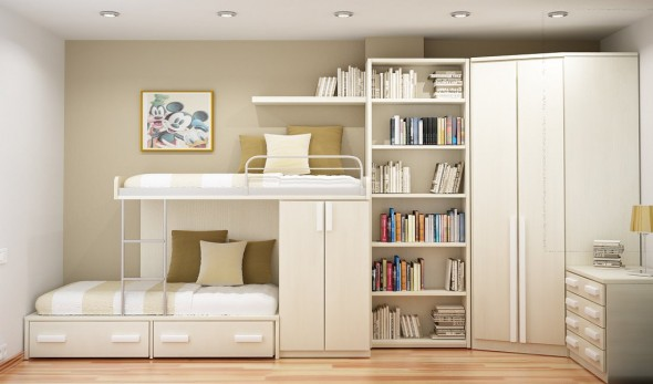 smart ideas for two Study Rooms Saving Ideas for Small Kids Rooms