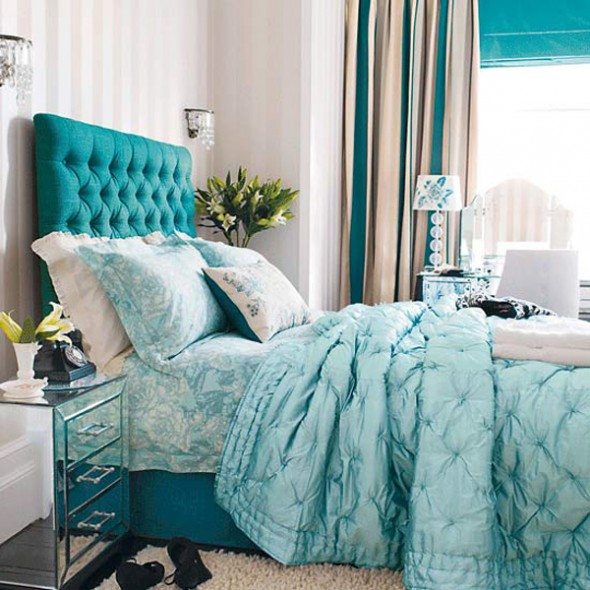 stylish blue color schemes for bedroom interior1