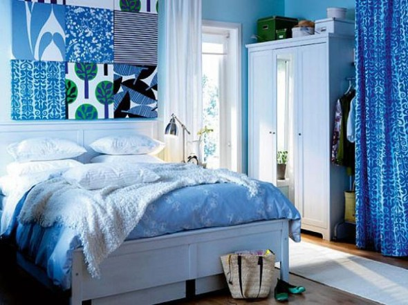 stylish blue color schemes for bedroom interior14