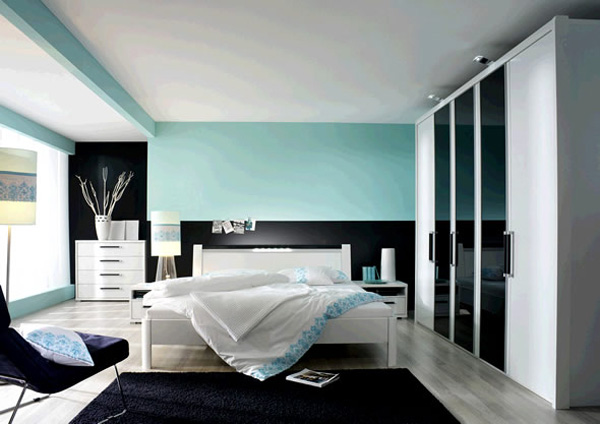 stylish blue color schemes for bedroom interior2 Image : Pictures ...