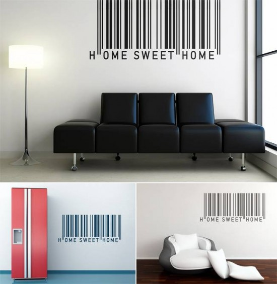 wall sticker barcode