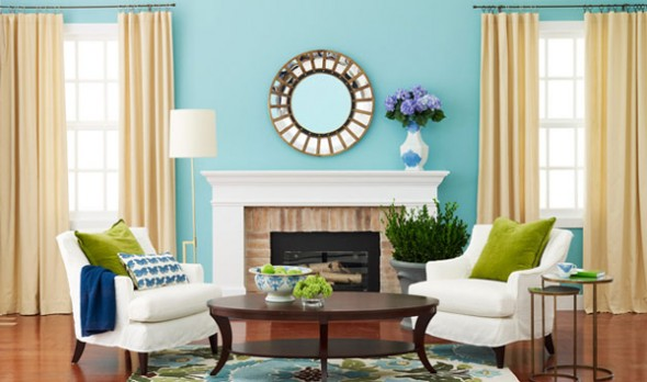 Decorating color wheel value and balance for Tiffany d living room