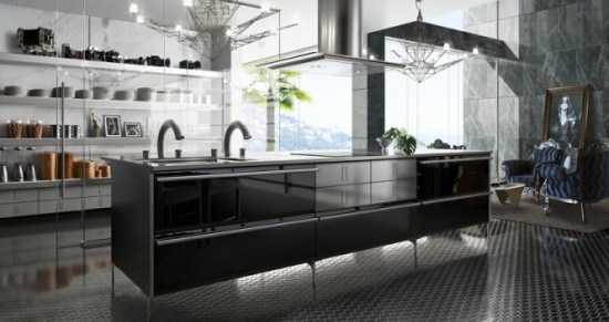 Black Kitchen Island Design