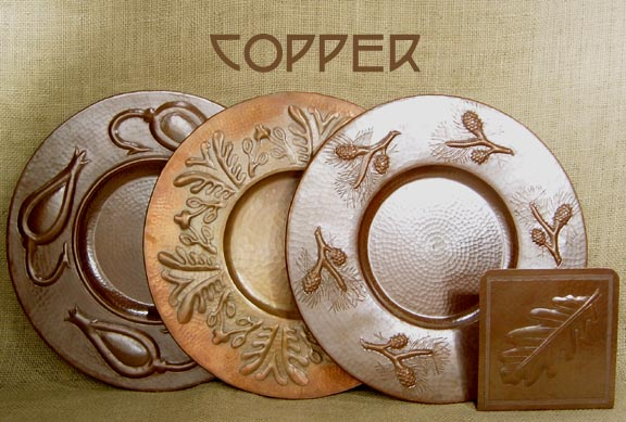 Decorating ARTS AND CRAFTS MOVEMENT COPPER