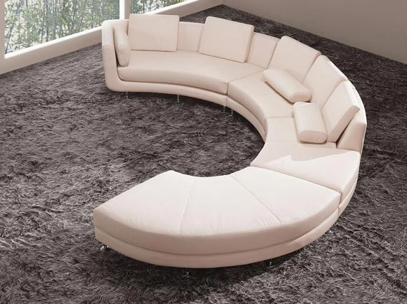 Modern Curve Sectional Sofa Design