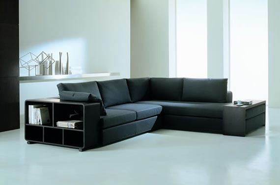 Sectional Sofa with Storage Space
