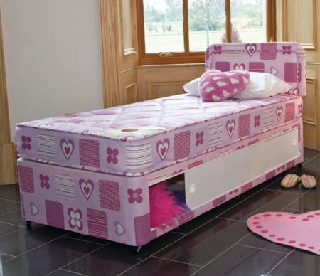 Single bed Slidestore Divan