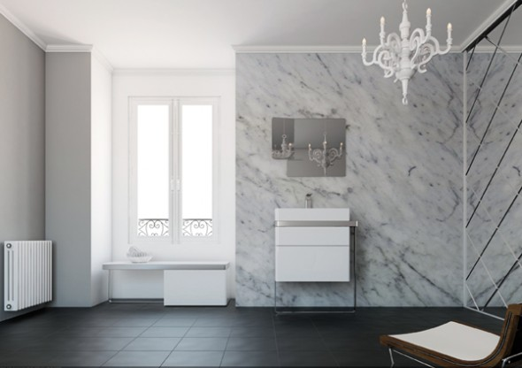 Structure Bathroom Furniture Collection from Inbani