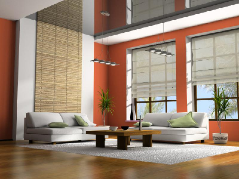 The clean lines and warm colors to maximize the available space and gives the decorating room an air of loft