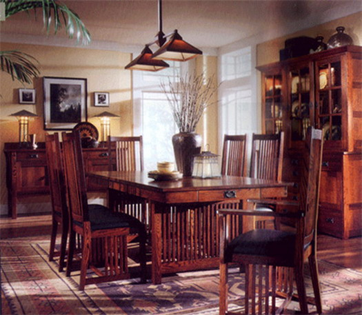 arts and crafts decorating furniture dining room