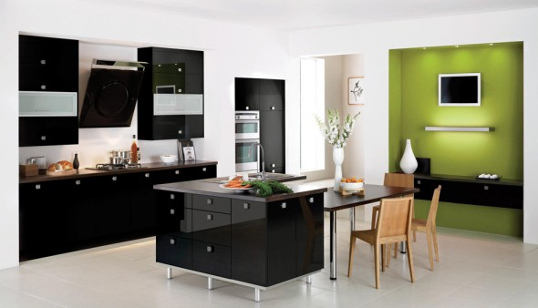 contemporary decorating kitchen color
