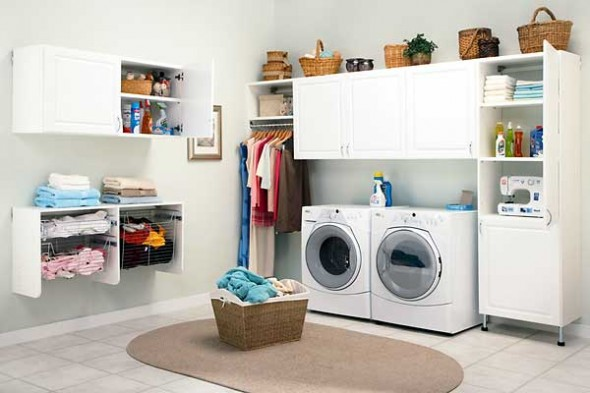 double laundry room design idea