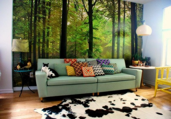 modern retro living room decorating